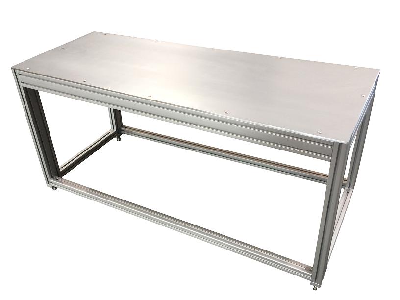 T-Slot Aluminum Aquarium Stand made by F&L Industrial Solutions using 80/20 brand t-slot aluminum extrusions